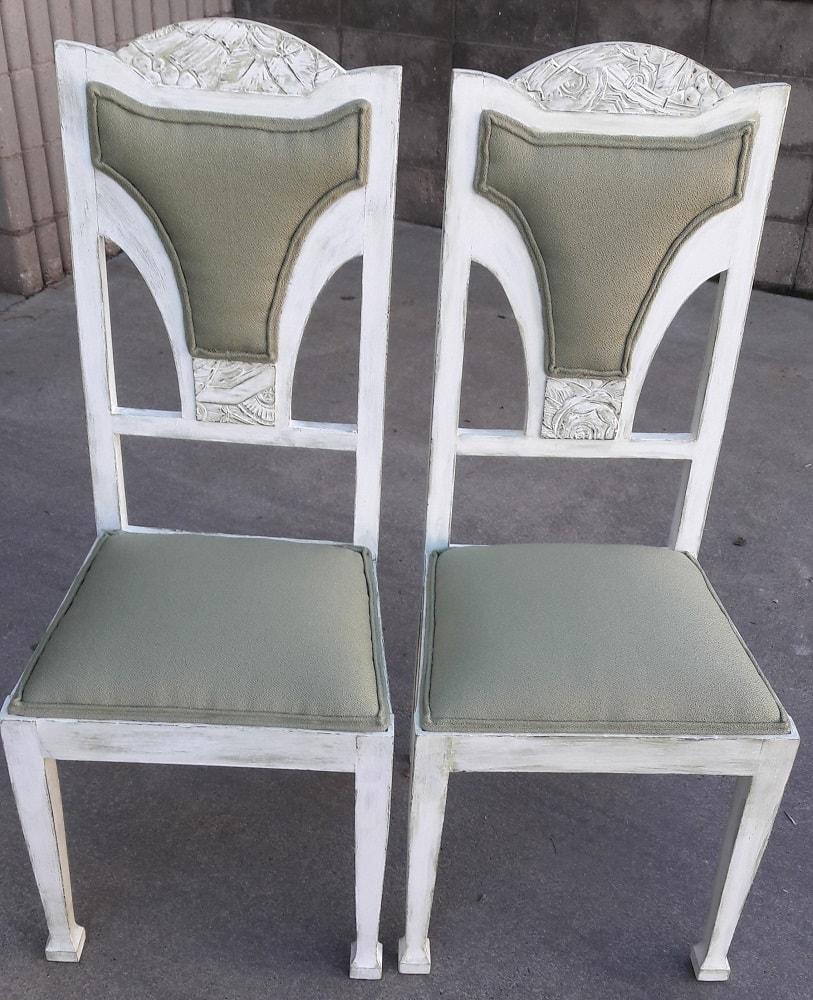 Parell de cadires de color verd1